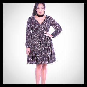 Torrid Deep V Georgette dress 14